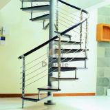 Escalier spiralé en métal d'économie de l'espace pour d'intérieur/extérieur