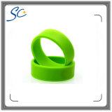 Logotipo de la empresa impreso de silicona pulsera RFID para control de acceso