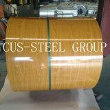カラー鋼板は鋼鉄コイルの木パターンPPGIを印刷した