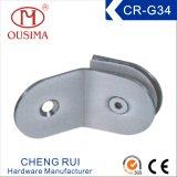 Ajustage de précision en verre de matériel de 135 degrés - bride en verre utilisée dans la chambre de douche (CR-G34)