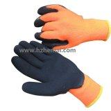 Le latex thermique de gants de l'hiver de latex de préhenseur a enduit le gant de travail de sûreté
