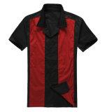 Los últimos diseños de la camisa para de los hombres del botón el popelín de algodón de encargo de las camisas del bowling abajo