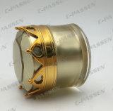 化粧品の包装のための新しい到着の王冠のアクリルのクリーム色の瓶(PPC-ACJ-070)
