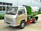 3CBM Gancho tipo brazo de elevación del camión de basura, camiones de transferencia de basura