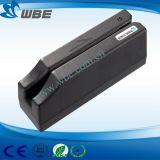 Faixas de tripla Interface USB do leitor de cartão magnético