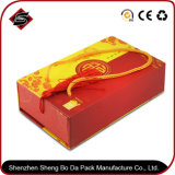 Rectángulo de empaquetado de papel modificado para requisitos particulares impresión de la insignia para el regalo