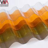 Protégé contre les UV Ge Lexan polycarbonate ondulé Feuille de PC pour les toitures, une solide feuille d'onde de PC