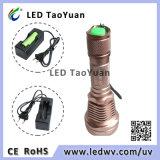 最も強い紫外線LEDの懐中電燈365nm 3W