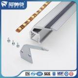 Fábrica de la serie ISO personalizada 6000 T5 anodizado de aluminio de extrusión de perfil de LED