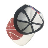 Sombreros blancos bordados 3D del casquillo del hombre de partido del algodón del color de la aduana