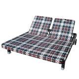 고리버들 세공 또는 등나무 옥외 정원 가구 바닷가 침대 겸용 소파 조정가능한 뒤 2인용 의자 라운지용 의자