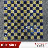 Mattonelle di mosaico di vetro di pietra miste rifornimento di scintillio della Cina per la parete Backsplash