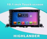 Android System DVD GPS Car Video para Highlander Tela sensível ao toque de 10,1 polegadas com WiFi / Bluetooth / TV