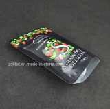 Customzied se levanta la bolsa de plástico del alimento para el conjunto del bocado con la cremallera