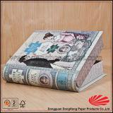 Impresión colorida de cartón falso libro al por mayor de la caja de regalo