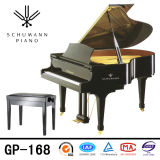 Schumann (GP-168) Piano de piano à queue noire à piano