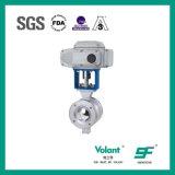 V-Type électrique robinet d'acier inoxydable à tournant sphérique