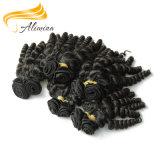 Extensões onduladas do cabelo de Remy do cabelo natural não processado BRITÂNICAS
