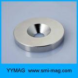 Grande anello magnetizzato eccellente NdFeB della terra rara N52 a magnete permanente