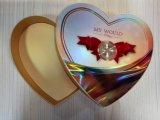 Rectángulo de encargo del chocolate del papel de la Corazón-Dimensión de una variable de la alta calidad