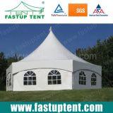 Nouveau design blanc pour la restauration de tentes à six pans de 8 m de diamètre de 50 personnes places Guest