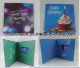 """4.3 """" LCD Kaart van de Verjaardag van de Brochure de Video Slimme"""