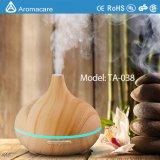 Difusor de aroma de ultra-som de grão de madeira 300ml com luz de mudança colorida (TA-038)