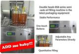 Semi Automatische het Vullen van de Eetbare Olie Machine met Dubbele Pijpen