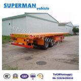 Semi Aanhangwagen van de Lading van het Vervoer van de Container van twee As 40FT Flatbed