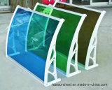 폴리탄산염 차일 장 PC 루핑을%s 플라스틱 차양 녹색 장