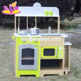 Jogos de madeira para miúdos, jogos de madeira da cozinha do brinquedo da alta qualidade por atacado da cozinha do brinquedo do jogo novo da HOME do projeto para os miúdos W10c249
