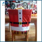 A cadeira do Natal cobre Papai Noel Red Hat para decoros do Natal
