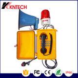 El teléfono Emergency Knsp-08 impermeabiliza el sistema de intercomunicación del IP con el telclado numérico iluminado
