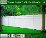 Frontière de sécurité blanche populaire de vinyle utilisée pour la cour et le jardin