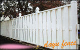 Clôture de jardin en PVC en plastique Shadowbox