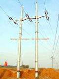 Поверните ключевую передающую линия стальную башню силы от фабрики продукции