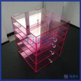 Organizador acrílico feito sob encomenda da composição da cor-de-rosa quente por atacado da venda