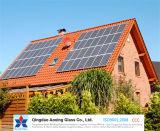 Vetro solare Tempered ultra chiaro per il modulo della pila solare ed il riscaldatore di acqua solare