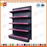 Scaffalatura di parete d'acciaio personalizzata parteggiata singola Manufactured del negozio del supermercato (Zhs590)