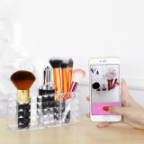 Nouvelle conception Hot Sales Diamond Stripes Acrylic Cosmetic Brush Barrel