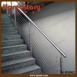 Barandilla del acero inoxidable/pasamano del cable para la escalera y el balcón (SJ-X1042)