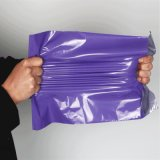 Bollettino stampato abitudine viola opaca della busta di imballaggio di plastica del LDPE