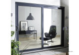 Blue Tinted Glass Doubles Leafts Right Hand Lock Aluminum Patio Sliding Doors