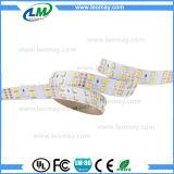 Rangées de double de lumière de bande d'IP20 24V 28.8W/M SMD5050 DEL