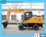 Roda de máquinas de construção pesada escavadeira hidráulica com 0,5-0,6m3 a capacidade da caçamba