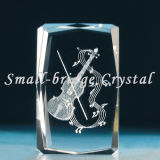 3D Crystal violín