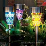 Luz Decorativa Psta Solar de Mosaico de Jardim de Luz LED (RS100)