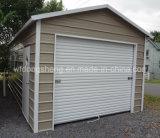 Eleagent y pequeño garage de acero prefabricado