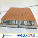 Painel de alumínio do favo de mel da grão de madeira decorativa para o painel de parede ao ar livre