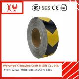 Seta PVC Seta Fita de advertência reflexiva, amarelo / preto